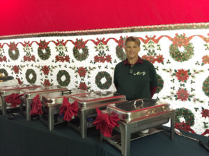 Holiday Catering Decorative Christmas buffet